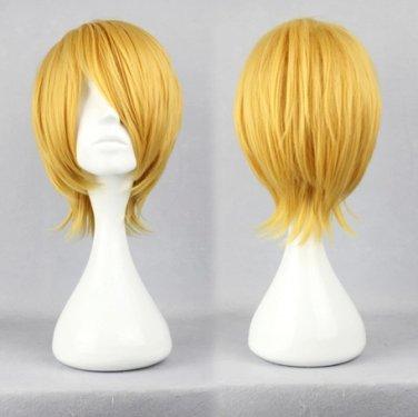 Nurarihyon no Mago Kubinashi golden Cosplay wig+free shipping+Free Wig Cap