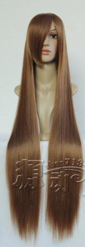 Hanasaku Iroha Minchi brown 100cm Cosplay wig+free shipping+Free Wig Cap