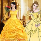 Beauty and the Beast belle princess cosplay costume skirt dress