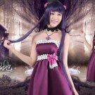Oreimo Kuroneko Gokou Ruri purple anime cosplay costume dress