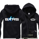 Black Rock Shooter BRS Anime long sleeve cosplay Casual costume Sweater fleeces Zipper Hooded black