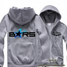 Black Rock Shooter BRS Anime long sleeve cosplay Casual costume Sweater fleeces Zipper Hooded gray