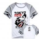 New Tokyo Ghoul Kaneki Ken anime cosplay Halloween short sleeve T-shirt gray A