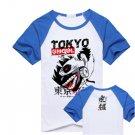 New Tokyo Ghoul Kaneki Ken anime cosplay Halloween short sleeve T-shirt blue A