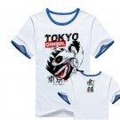 New Tokyo Ghoul Kaneki Ken anime cosplay Halloween short sleeve T-shirt blue B