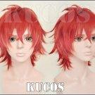 Kouzuki Ryou red gradient short Cosplay wig + free shipping+ Free Wig Cap