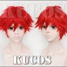 Monthly Girls' Nozaki-kun Mikoto Mikoshiba red Cosplay wig + free shipping+ Free Wig Cap