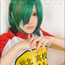 NEW Yowamushi Pedal Yuusuke Makishima green mix anime cosplay costume wig