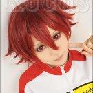 NEW Yowamushi Pedal Weak Pedals Shokichi Naruko short dark red anime cosplay costume wig