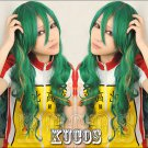 NEW Yowamushi Pedal Weak Pedals long curly 80cm green mix anime cosplay costume wig