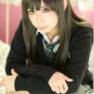 The Idolmaster Cinderella Girls Rin Shibuya black Cosplay wig + free shipping+ Free Wig Cap