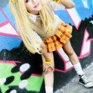 The Idolmaster Cinderella Girls Rika Jyougasaki light golden Cosplay wig + free shipping+Wig Cap