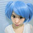 Assassination Classroom Shiota Nagisa blue Cosplay ponytail wig + free shipping+ Free Wig Cap