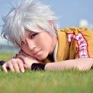 The Prince Of Tennis Niou Masaharu short silver white anime cosplay wig+free shipping