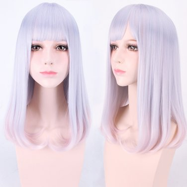 Japanese Harajuku style light purple gradient mix Cos wig+free shipping