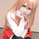 Himouto! Umaru-chan Umaru Doma orange cos wig+free shipping+Free Wig Cap