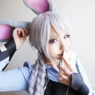 Judy Hopps silver white 80cm cos wig+free shipping+Free Wig Cap