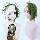 Kabaneri of the Iron Fortress Ikoma dark green white cos wig+free shipping+Free Wig Cap