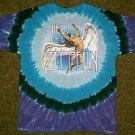 Led Zeppelin liquid blue tie dye shirt size xl