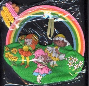 AVON LITTLE BLOSSOM AND FRIENDS BARRETTE HOLDER WITH BARRETTES