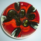 Poole Pottery England Delphis Pin Dish 49 Margaret Anderson Red Black Green Abstract Design