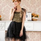 Free Shipping Strapless single suspenders formal dress plus size dress black D2J912B