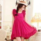 Free Shipping Barbie princess waist elegant chiffon dress size from S-3X D2J209R