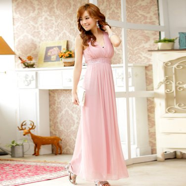 Free Shipping ladies fashion dress beaded chiffon plus size evening gown dress D2J634P