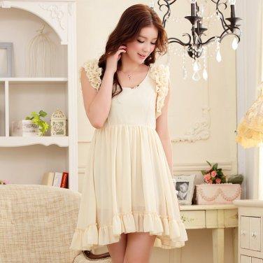 Free Shipping Barbie princess waist elegant chiffon dress size from S-3X D2J209C