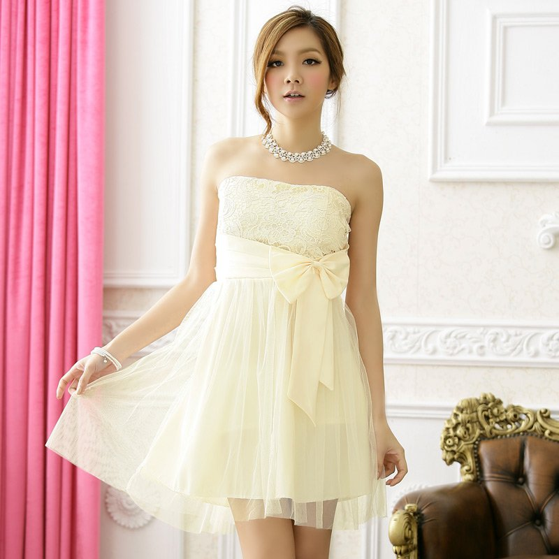 Free Shipping European plus size evening dress bridesmaid Strapless  Gauze formal dress D2J616C
