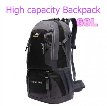 Fashion 60L large capacity travel mountaineering bags Athletic Backpack DBG2030BK