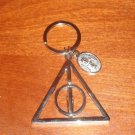 Wizarding World of Harry Potter Deathly Hallows Rotating Keychain Lovegood New