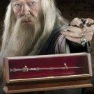 Collectors Edition PROFESSOR ALBUS DUMBLEDORE BRONZE WAND W/ Museum Style Case