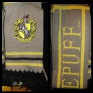 Wizarding World of Harry Potter Hufflepuff Crest Quidditch Scarf Hogwarts - NEW!