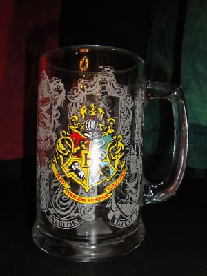 Wizarding World of Harry Potter Hogwarts Glass Stein
