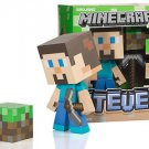 Minecraft Steve Vinyl Toy 6 Inches Tall with Dirt Block in Collectors Box