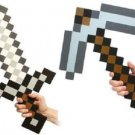 "Minecraft EVA Foam 24"" Sword & 18"" Pickaxe Weapon Combo Set"