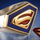 Superman Signet Sterling Silver Ring with 24k Gold Accents DC Noble Collection