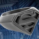 Superman Signet Black Stainless Steel Ring DC Noble Collection Man of Steel