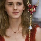 Harry Potter Hermione Silver Crafted Red Crystal Necklace 24k Noble Collection