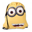 Despicable Me Two Eyed Minion Drawstring Backpack Bag Universal Studios
