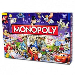 Disney Parks Monopoly Theme Park III Edition Pop Up Cinderella Castle Board WDW