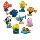 Finding Nemo 9 Figures Playset Walt Disney World Cake Toppers Figurines