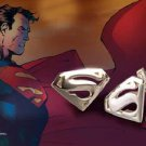 Superman Emblem Sterling Silver Cufflinks DC Man of Steel Noble Collection