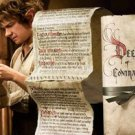 Deed and Contract Bilbo Baggins Hobbit Noble Collection