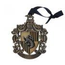Wizarding World of Harry Potter Hufflepuff Metal Crest Christmas Ornament
