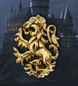 Gryffindor Lion Pin Pendant 24k Gold Plated Harry Potter Noble Wizarding World