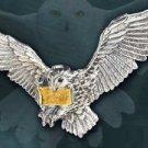 Flying Hedwig Brooch Sterling Silver 24k Gold Plated Harry Potter Owl