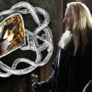 Lucius Malfoy Crystal Brooch Replica Harry Potter Noble Wizarding Death Eater