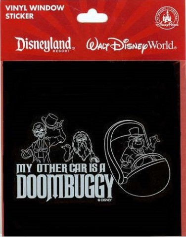 My Other Car Is A Doombuggy Haunted Mansion Vinyl Window Sticker Disney World